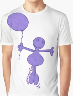 One Balloon Each...Purple Doodle Dude Graphic T-Shirt