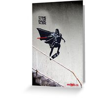 Darth Vader Skateboarding Greeting Card