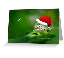 Santa drop Greeting Card