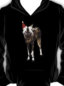 Spotted Dog in a  Christmas Hat T-Shirt