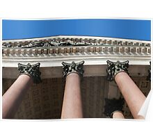 columns and portico Poster