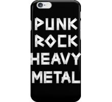 Punk Rock Heavy Metal iPhone Case/Skin