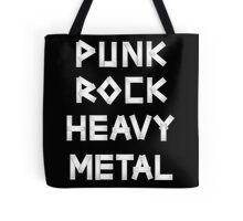 Punk Rock Heavy Metal Tote Bag