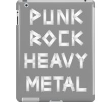 Punk Rock Heavy Metal iPad Case/Skin