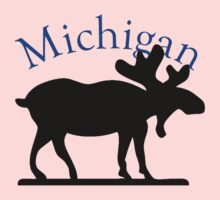 Michigan Moose Baby Tee