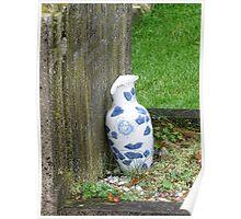 Damaged Vase At Uplyme Churchyard Poster