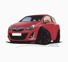 Vauxhall Corsa D (Facelift) Red (Black Wheels) by Richard Yeomans