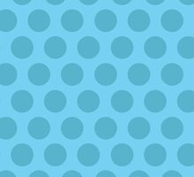 Blue Polka Dot iPhone Case by Louise Parton