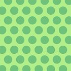 Green Polka Dot Phone Case by Louise Parton