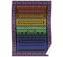 Crystal Celtic Knot Borders - Medium - Decoupage Poster