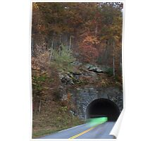 bicycling through tunnel 4 Poster