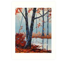 Last Fall Days Art Print