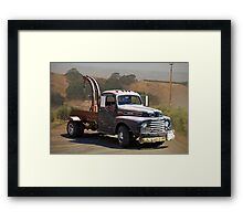 Aging Ford Tow Truck Framed Print