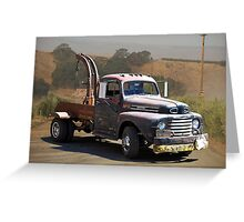Aging Ford Tow Truck Greeting Card