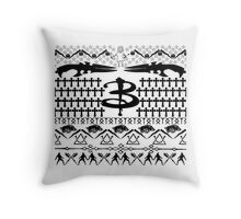 Buffy Ugly Holiday Sweater Pattern Throw Pillow