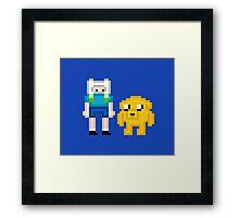 Finn & Jake Pixel Framed Print