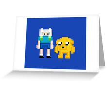 Finn & Jake Pixel Greeting Card