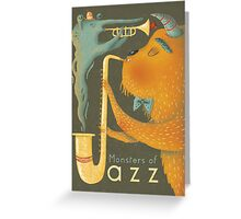 Monsters of Jazz Greeting Card