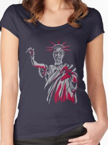 Statue of Fear Women's Fitted Scoop T-Shirt