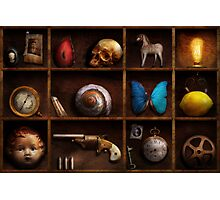 Steampunk - A box of curiosities Photographic Print