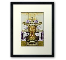 Breeze on the Courtyard. Framed Print