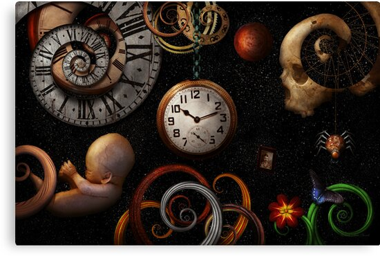Steampunk - Abstract - The beginning and end by Mike  Savad