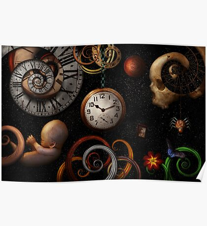 Steampunk - Abstract - The beginning and end Poster
