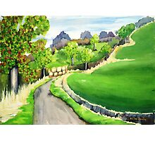 Road to Osgodby Photographic Print