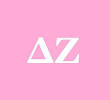 Delta Zeta Letters by emilysmithart
