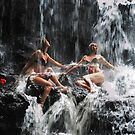The Birth of the Double Star. Anna at Eureka Waterfalls, Mauritius by JennyRainbow