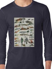 1920's Fishing Flies Long Sleeve T-Shirt