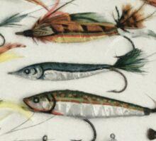 1920's Fishing Flies Sticker
