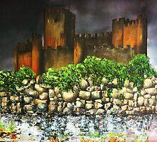 Templar Castle of Almourol by Kaye Miller-Dewing