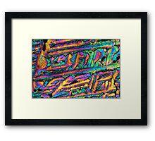 Bismuth chloride crystals. Framed Print