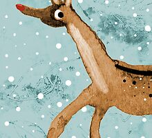 Frolicking Rudolph by Sophie Corrigan