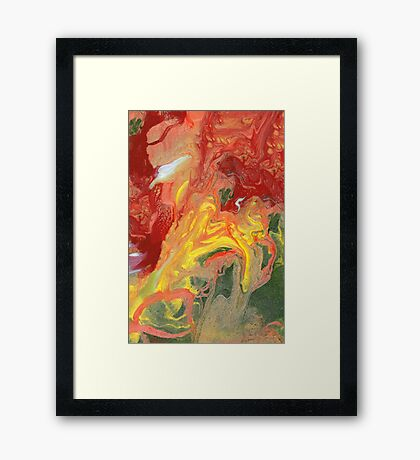Abstract - In a state of flux Framed Print