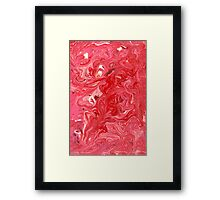 Abstract - My ice cream melted Framed Print