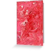Abstract - My ice cream melted Greeting Card