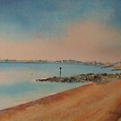 Hythe Kent from Sandgate by Beatrice Cloake
