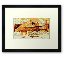 Beautiful Britain - A Cottage in Crawley, Sussex in 1906 Framed Print