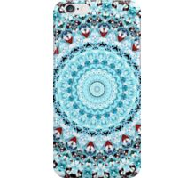 Blue Kaleidoscope/Medallion Print iPhone Case/Skin