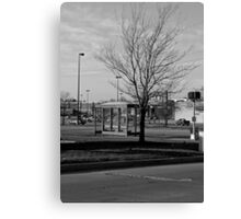 Empty Bus Stop Canvas Print