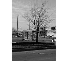 Empty Bus Stop Photographic Print