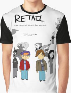 Retail Season One Box Art BW BG Graphic T-Shirt