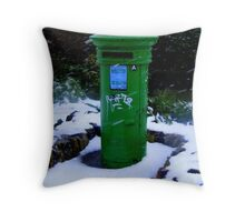 Postbox at Rosslare ... Throw Pillow
