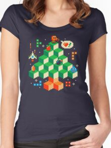 RETRO HOLIDAY! Women's Fitted Scoop T-Shirt