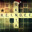 Santa Scrabble Christmas Card by Vanessa Barklay