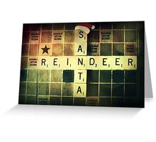 Santa Scrabble Christmas Card Greeting Card