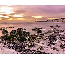 Birling Gap Sunset Photographic Print