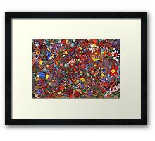 Abstract - Fabric Paint - Sanity Framed Print